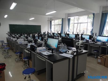 明美显微互动教学系统成功交付于云南经济管理学院
