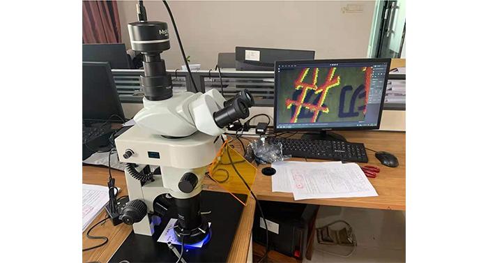 明美体视荧光显微镜应用于朱墨时序和痕迹鉴定