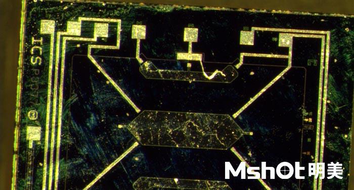 体视显微镜下的硅元件